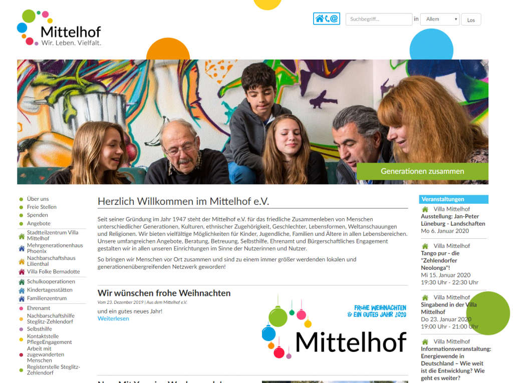 Website Mittelhof