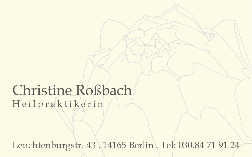 Visitenkarte Roßbach